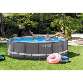Бассейн каркасный Intex 26326 Ultra Frame Metal Pool 488х122 см