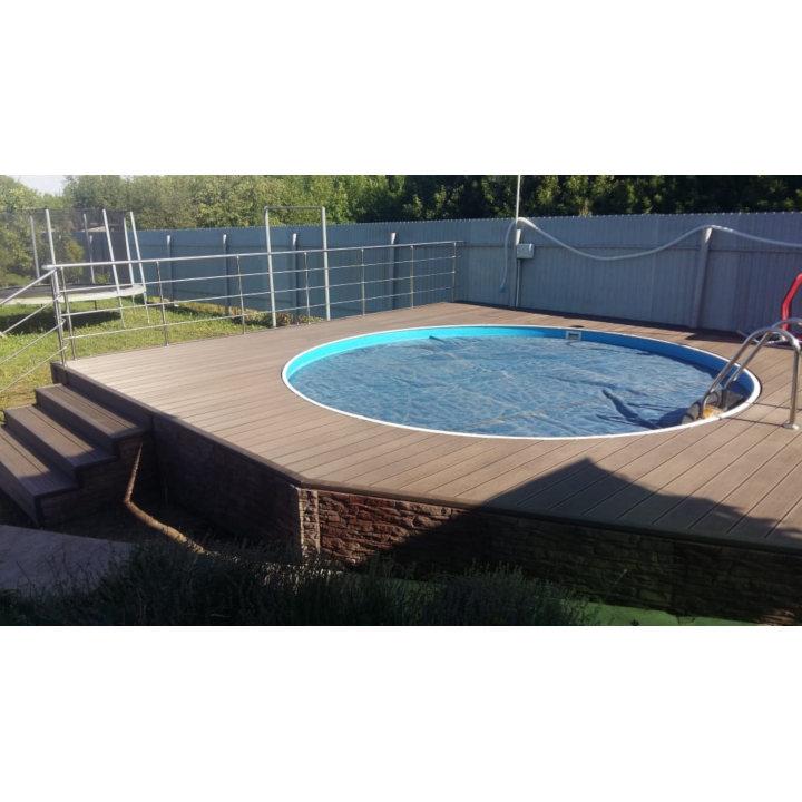 Сборный морозоустойчивый бассейн Лагуна 6,4х1,25 м